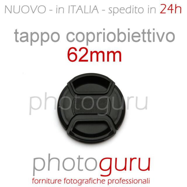 Tappo obiettivo a molla 62mm coperchio universale Canon Nikon Sony Sigma 62 mm