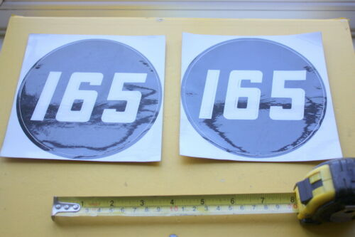 2 OFF MASSEY FERGUSON 165 TRACTOR STICKERS DECAL SIDE BADGE BANNER LANE ORIGINAL