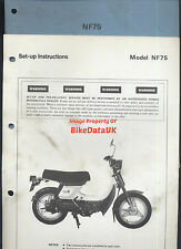 Genuine Honda NF75 (1978-1983) Dealers Set-Up Manual NF 75 V-Matic Scooter Moped