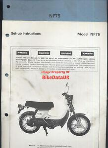 Honda-NF75-1978-1983-Genuine-Factory-PDI-Set-Up-Manual-NF-75-V-Matic-AE71