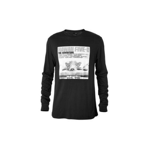 Nixon Hawaii Five-O Long Sleeve Tee T-Shirt L Black S1844000-04