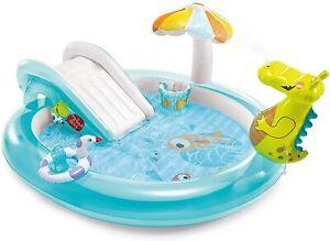 Intex-57165-Play-Center-piscina-Alligatore-con-spruzzo-cm-201x170x84-gonfiabile