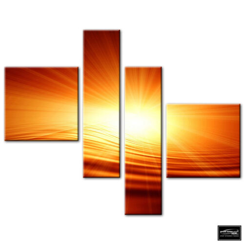 Abstract Sunset Design   BOX FRAMED CANVAS ART Picture HDR 280gsm