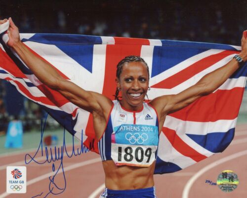 Official Olympic product Athlete Dame Kelly Holmes signed  photo UACC DEALER