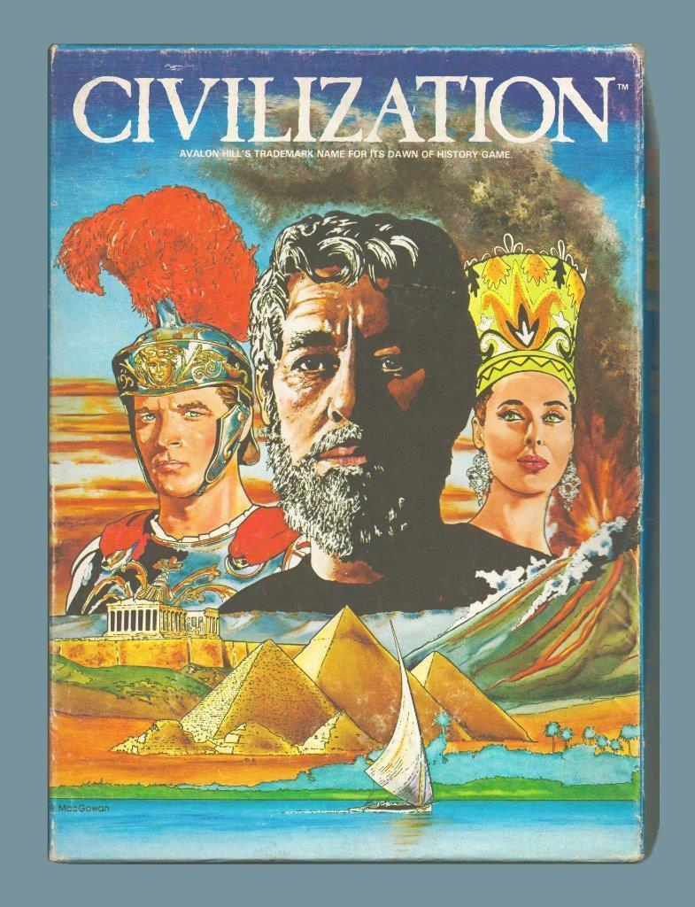 Civilización, Avalon Hill, ah, ENLOMADOR, condición de alta calidad, enormes bonus