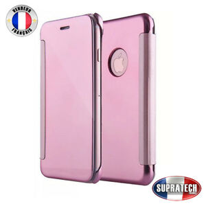 coque iphone x miroir rose
