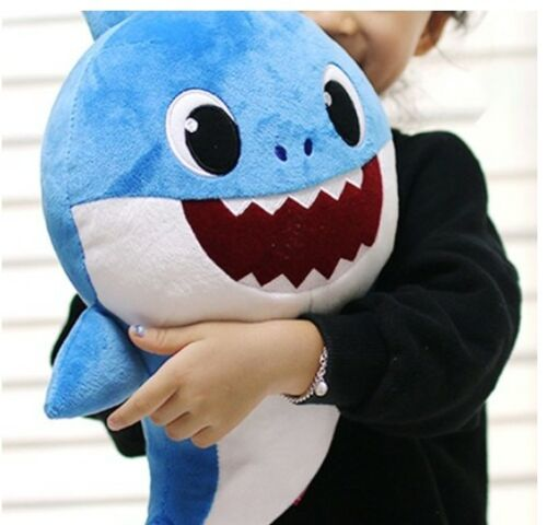 Pinkfong Shark Sound Doll Korean HANGUL Version For Baby/&Kids Blue