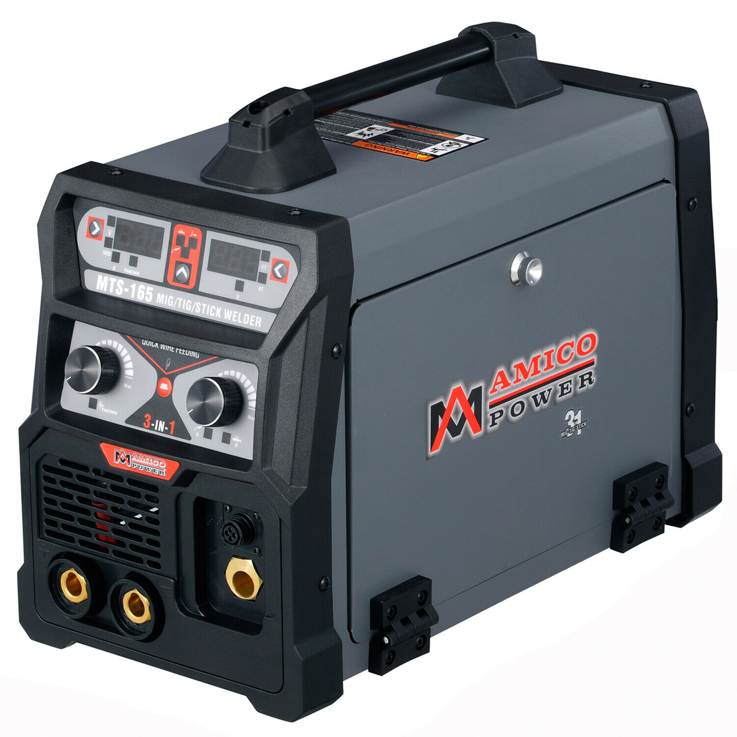 AMICO MTS-165, 165 Amp MIG Wire/Flux Cored, TIG Stick Arc DC Welder Welding. Buy it now for 397.00