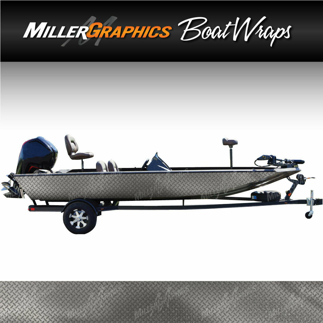 Diamond Plate (Natural) Boat Wrap Kit 3M  Cast Vinyl Graphic Decal - 6 Sizes  all in high quality and low price