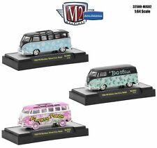 AUTO THENTICS 3 CARS VOLKSWAGEN USA MODELS W/CASES 1/64 M2 MACHINES 32500-MJS02
