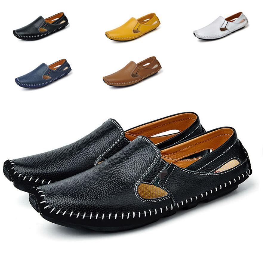 Men Slip On Loafer Driving Moccasin Casual Breathable shoes Sandals Summer