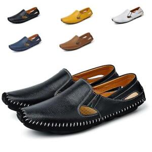 men slip on loafer driving moccasin casual breathable