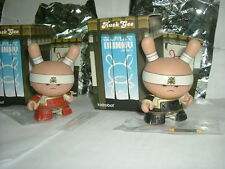 Kidrobot Dunny Gold Life Series Very Serious Samurai Red & Black Huck Gee