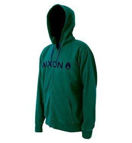 Nixon Basis Zip Hood Hoody Forest Green S830740-02 M