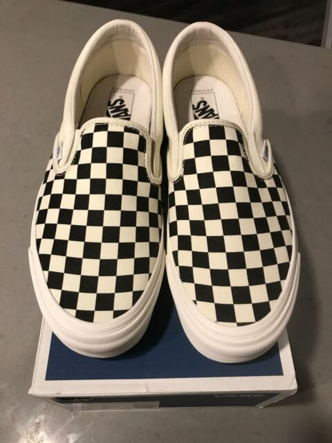 f9abd26e10 VANS Vault OG Classic Slip on Check Black White Checker Checkerboard ...