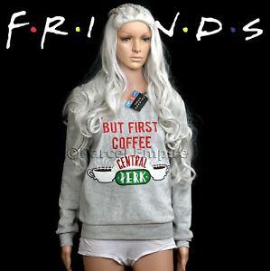 Official Shirt Central First Pyjama Sweatshirt Pj But Perk Friends Coffee Top 1w7Sr1q