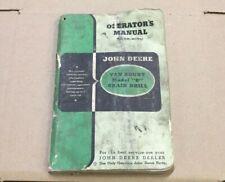 Om M1 947 Operators Manual For John Deere Van Brunt Model B Grain Drill