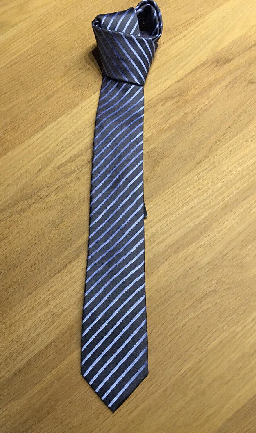 Krawatte, Venti, neu und ungetragen, mit Etikett , Grau Mit Blauen Streifen