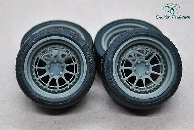 Amiable 1/18 Wheels 18 Inch Ccw D11l With Tires Toys & Hobbies Parts