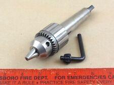 Excellent Original Mt3 Jacobs Tailstock Drill Chuck 4 Lathe 12 Capacity Amp Key