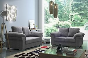 Sale-New-Oxford-Grey-Fabric-Sofa-Settee-Suite-3-2-1-Sofas-3-Piece-Suite-Bargain