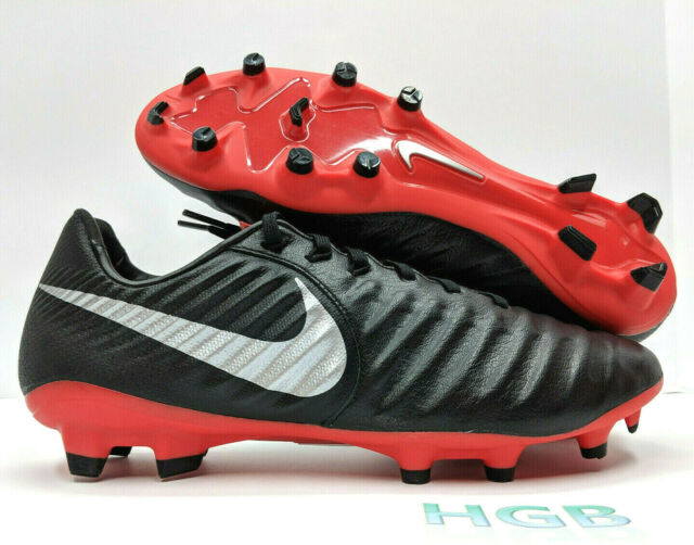 half off 48f9a 1531b Nike Tiempo Legend 7 Pro FG Soccer Cleats Mens Black Red AH7241-006 NIB