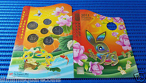 2011-Singapore-Mint-039-s-Uncirculated-Coin-Set-Hongbao-Pack-Lunar-Rabbit-5-5-Coin