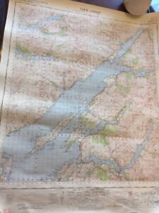 VINTAGE-ORDNANCE-SURVEY-OF-GREAT-BRITAIN-MAP-LOCH-LINNHE