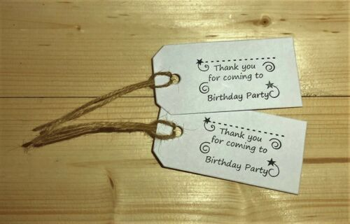 10 Children/'s Party Bag Tags white, medium sized