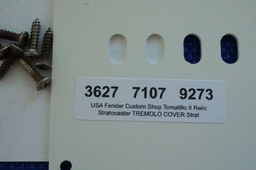 USA Fender Custom Shop Tomatillo II Relic Stratocaster TREMOLO COVER Strat