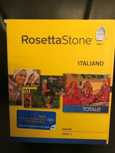 Windows,free sh Rosetta Stone  Italian Totale V4 Level 1 NEW In Sealed Box Mac