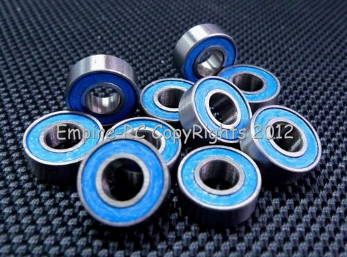 ABEC-3 MR105-2RS//W3 5x10x3 mm 25 PCS Rubber Sealed Ball Bearing Blue 5*10*3
