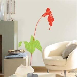 LARGE LILY FLOWER WALL DECAL RED CALLA LILY Floral Sticker Wall