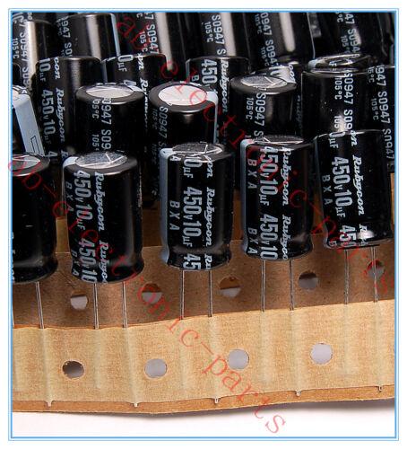 10uf 450v Rubycon Radial Electrolytic Capacitors 12.5x20mm 450v10uf 10pcs