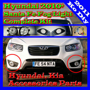 Details about Fog Lamp Light Complete Kit For 2010 2011 2012 Hyundai on