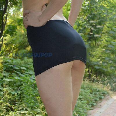 Bodycon Bandage Skirt Sheer Micro Mini Booty Erotic Low Waist Leopard/Black