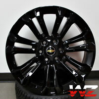 24 Ck156 Style Gloss Black Rims Gmc Style For Chevy Tahoe Yukon Sierra Suburban