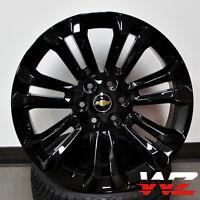 24 Ck156 Style Gloss Black Rims Gmc Style For Chevy Tahoe Yukon Sierra Suburban