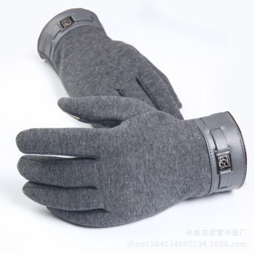 1 pair New Winter Plus Velvet Warm Men/'s Gloves//Mitten ipad//iphone Touch Gloves