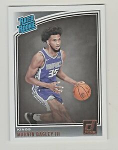 2018-19-Panini-Donruss-168-MARVIN-BAGLEY-III-RC-Rookie-Sacramento-Kings