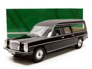 Cult-Models-1972-Mercedes-Benz-8-W114-Pullman-hearse-Black-1-18-Scale-New