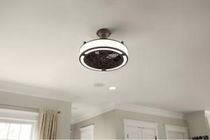 Damp Outdoor Indoor 22 Quot Bronze Ceiling Fan Remote Unique Chandelier Drum Light Ebay