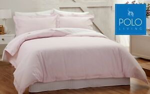 POLO-LUXURY-QUILT-COVER-SET-SOFT-ROSE-COLOUR-100-COTTON-TAILORED-FINISH