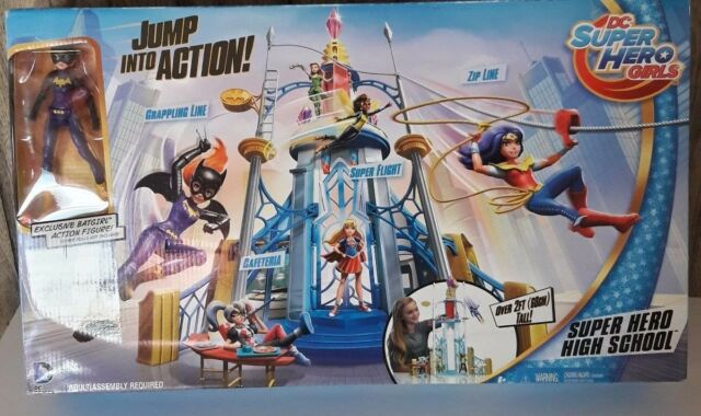 2015 Mattel Dc Superhero Girls Super Hero High School Playset
