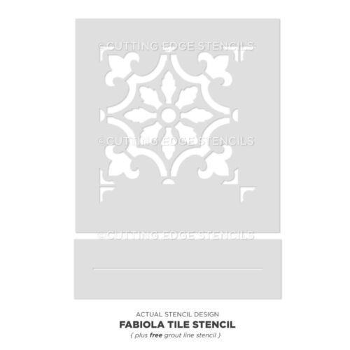 Reusable Stencils Size SMALL DIY Home Decor Fabiola Tile Stencil