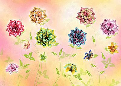 Spielzeug Florentine Faltblätter Blume Mille Fleurs Blütenball Origami 4 Farben 3 Größen Bestellungen Sind Willkommen. Bastelpapier