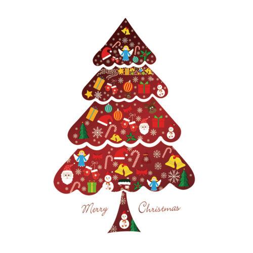 Christmas Window Decals Santa Elk Snowflake Glass Wall Removable Sticker XMAS CA