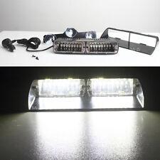 16 LED Car Police Strobe Flash Warning Dash Emergency Flashing Light 48W White