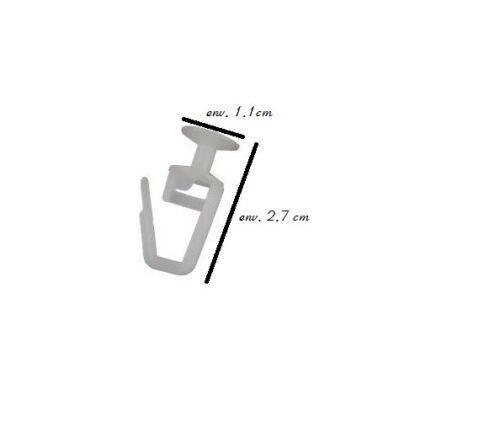 CROCHETS RIDEAUX à glisser pour rideau attache tringle à roulette accessoire