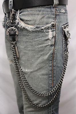 Men Women Black Metal Wallet Chains KeyChain Biker Jeans Balls Charms Trucker